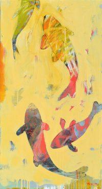 """Koi Brenda Bredvik 44"""" x 24"""" oil on canvas $2600"""