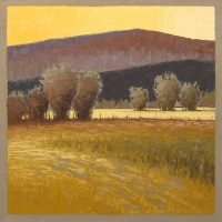 "Sunset at Pot Creek, NM Jeff Cochran 32"" x 32"" oil on linen $3400"