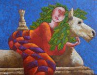 """Galope Jose Echeverria 32.5"""" x 42.5"""" oil on canvas $2950"""