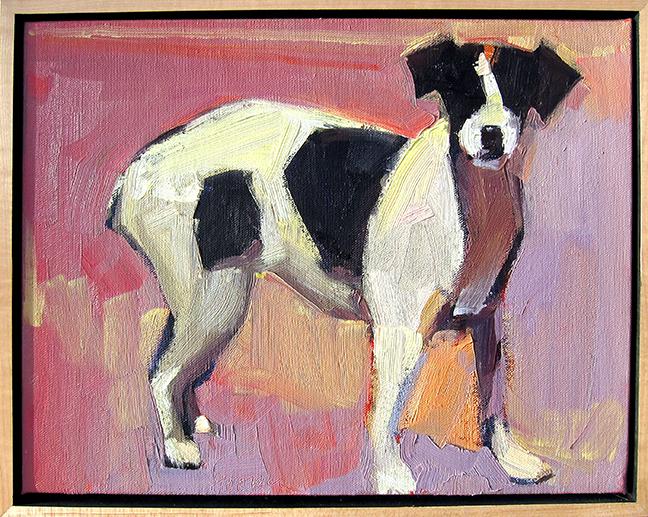 "Pourquoi Dana Hooper  12"" x 15"" oil on canvas $1400"