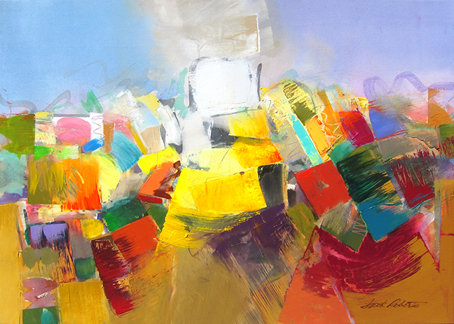 "Sonoita  Jack Roberts  50"" x 50"" acrylic on canvas $5000"