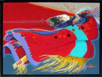"Warrior's Vision Jim Nelson  25.5"" x 33.5"" acrylic on panel $3700"