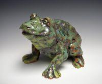 "Dude Frog Kari Rives 7"" x 9"" x 8"" clay $450"