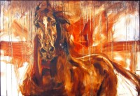 "Horse Running James Swanson 30"" x 41.5"" oil on canvas $1200"