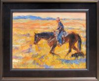 """The Trackers James Swanson 22"""" x 26"""" oil on panel $1500"""