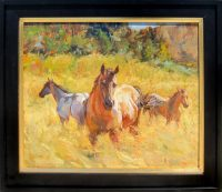 """Horse Play James Swanson 26"""" x 30"""" oil on panel $3000"""