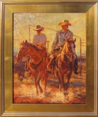 """End of the Day James Swanson 26"""" x 21"""" oil on panel $1650"""