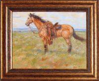 "Horse Breeze James Swanson 22.5"" x 27"" oil on panel $1650"