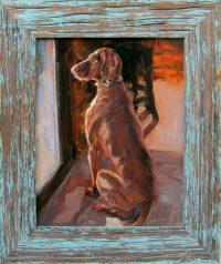 "Red Bone James Swanson 19"" x 16"" oil on panel $550"