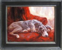 """Great Chair James Swanson 25"""" x 31"""" oil on panel $2650"""