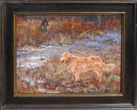 "Grey Golden James Swanson 25"" x 31"" oil on panel $2650"