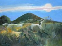 """Ghost Horses Chaille Trevor  18"""" x 24"""" oil on canvas $790"""