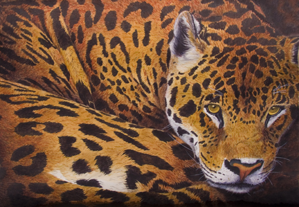 "No Regrets  Patricia Hunter  37.5 "" x 45.5"" watercolor on paper $2850"