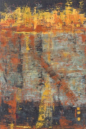"""October with Fiona Patricia Oblack 48"""" x 32"""" acrylic on panel $2200"""