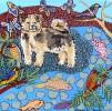 Fuzzy Pup in Landscape