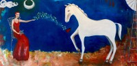 "Love Butterflies Ana Marini-Genzon 36"" x 72"" acrylic on canvas $5100"