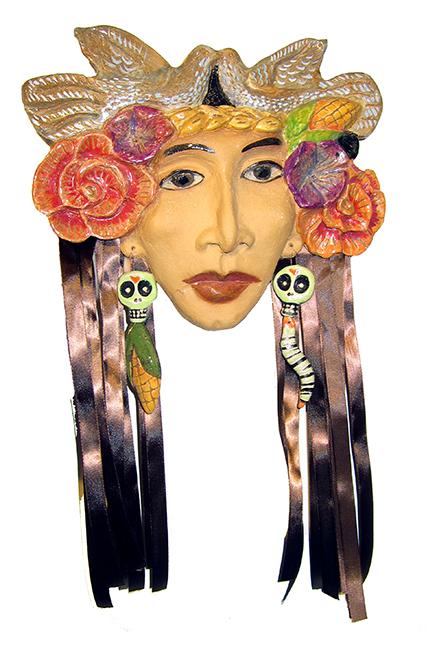 """Harvest Queen  Rachel Slick  21"""" x 13"""" ceramic $350"""