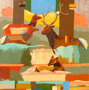 Ron Russon, Elk Family Abstract