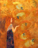 Girl with Hummingbird