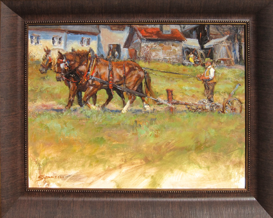 "Plow Horses James Swanson 24"" x 30"" oil on panel $1550"