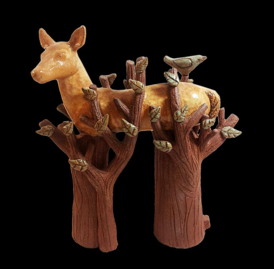 Tree Spirit Deer, Michelle MacKenzie