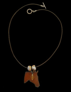 Brown Beauty Necklace, Adriana Walker