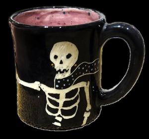 Skeleton Boquet Mug