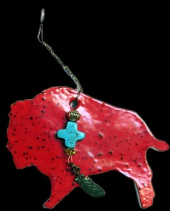 Red Bison Ornament