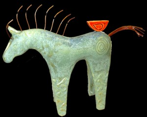 Ice Blue Horse