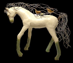 Grace - horse with birds and nest