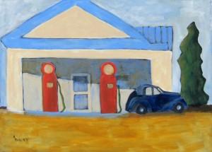 White Gas Station