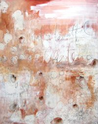 """What a Beuatiful Existence Tracey Waldroup 60"""" x 48"""" mixed media on canvas $4000"""
