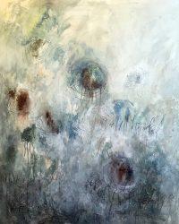 """I'm Still Hopefull Tracey Waldroup 60"""" x 48"""" mixed media on canvas $4000"""