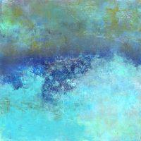 "Vibrant Seas Lisa Mann 30"" x 30"" oil and cold wax on panel $1600"