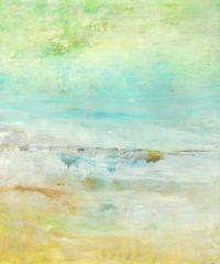 "Where Ideas Begin Lisa Mann 48"" x 40"" oil and cold wax on panel $3600"