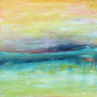 """Haute Province I Lisa Mann 30"""" x 30"""" oil and cold wax on panel $1600"""