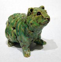"""Green Prairie Dog Kari Rives 5.5"""" x 8.5"""" x 4.5"""" clay $275"""