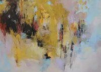 """Autumn Wind Debora Stewart 36"""" x 48"""" acrylic on canvas $3750"""