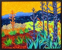 """Being in the Golden Glow Cathy Carey 25"""" x 31"""" oil on canvas $2130"""