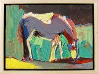 "Pony II Dana Hooper 7"" x 9"" oil on canvas $650"