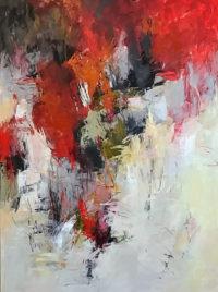 """Precipice Debora Stewart 48"""" x 36"""" acrylic on canvas $3750"""