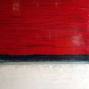 "Phoenix by Stephanie Paige, 48"" x 48"" x 3"", Mixed media on panel"
