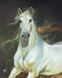 "Joyspell II Chaille Trevor 48"" x 36"" oil on canvas $2750"