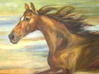 "Free Spirits Chaille Trevor  36"" x 48"" oil on canvas $2750"