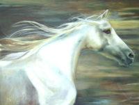 "High Hearted Chaille Trevor  36"" x 48"" oil on canvas $2750"