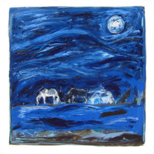 "Blue Mountain Horses by Karen Bezuidenhout 48"" x 48"""