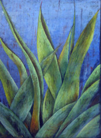 "Century Plant (Agave) Rudie van Brussel 37"" x 27"" acrylic on canvas $1800"