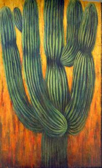 """Cactus Rudie van Brussel 46"""" x 28.5"""" acrylic on canvas $2750"""