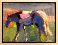 "Trail Pony Dana Hooper 7"" x 9"" Oil on canvas  $500"