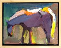 "Backlit Gray Dana Hooper 7"" x 9"" Oil on canvas  $500"